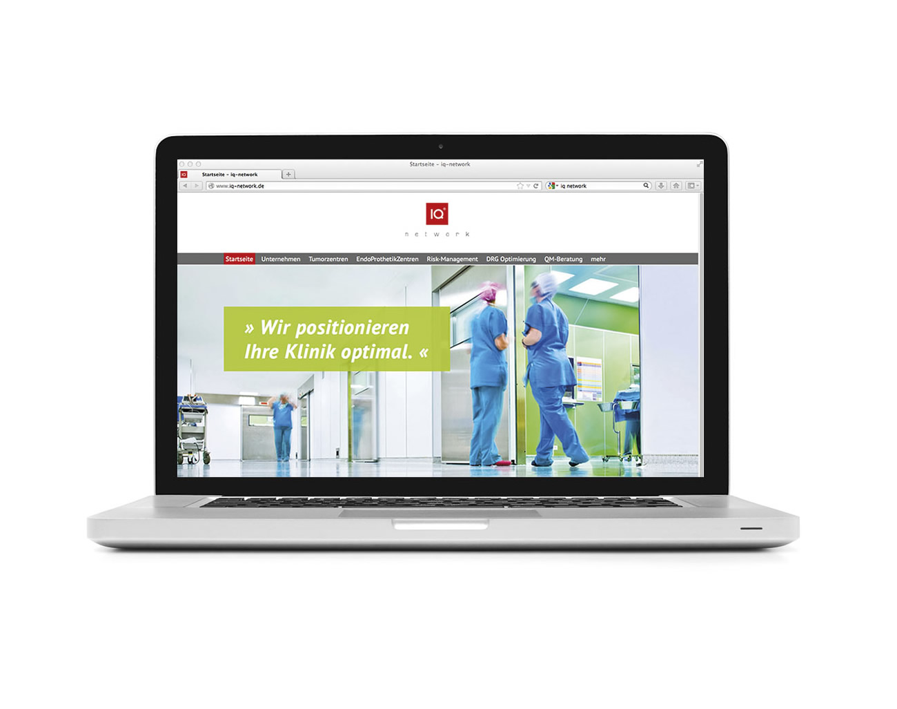 Petra Zimmerer, Büro für Gestaltung, Webseite, responsive, Wordpress, IQ Network, Imagebroschüre, Design by pz