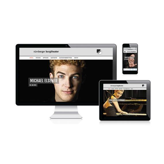 Petra Zimmerer, Büro für Gestaltung, Nürnberger Burgtheater, Webseite