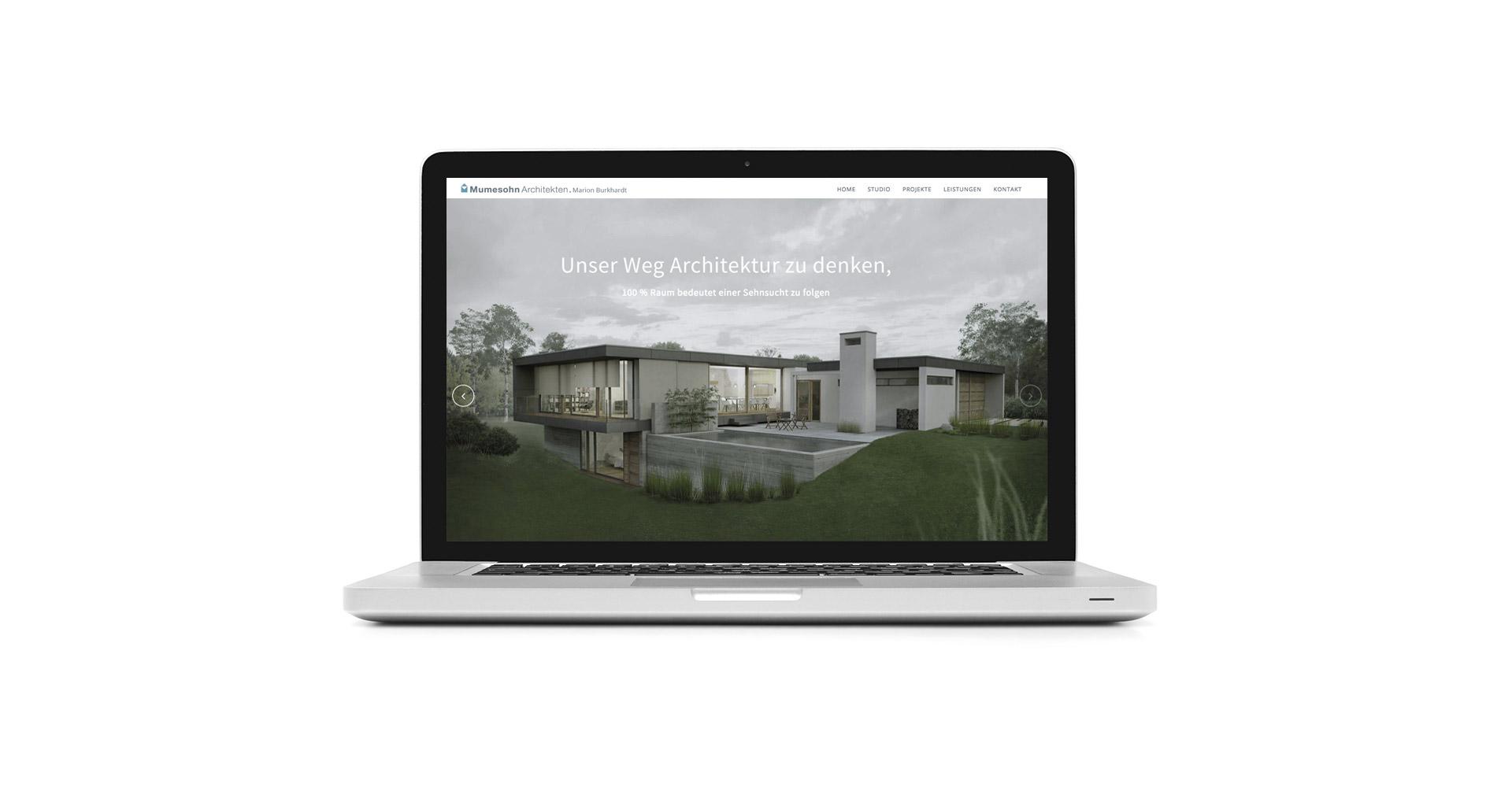 Mumesohn Architekten. Marion Burkhardt. Webseite