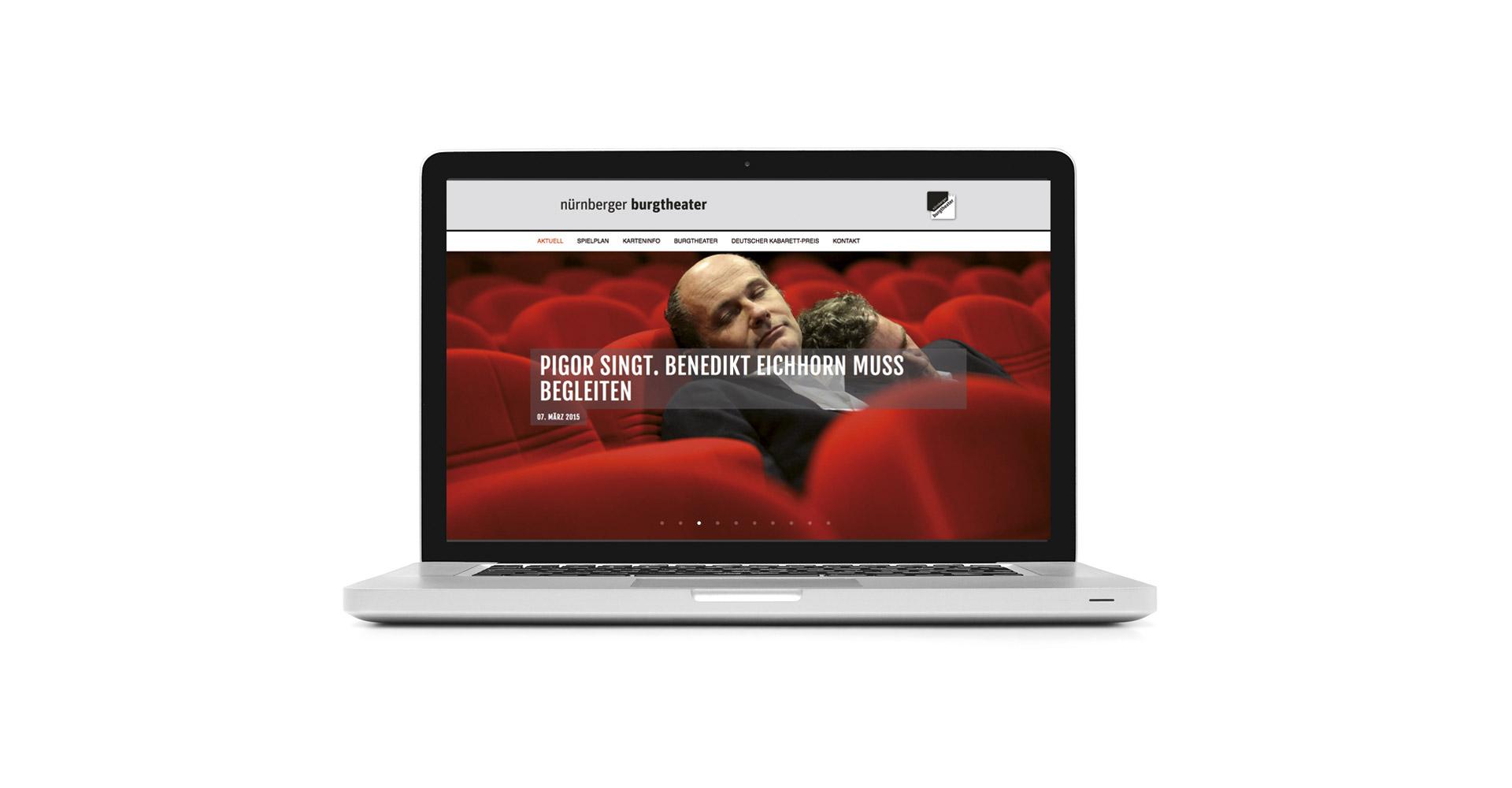Petra Zimmerer, Büro für Gestaltung, Nürnberger Burgtheater Webseite