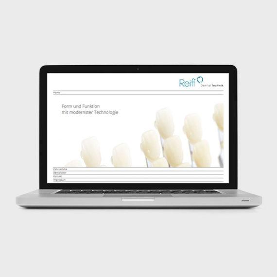 Petra Zimmerer, Büro für Gestaltung, Reiff Dentaltechnik, Webseite