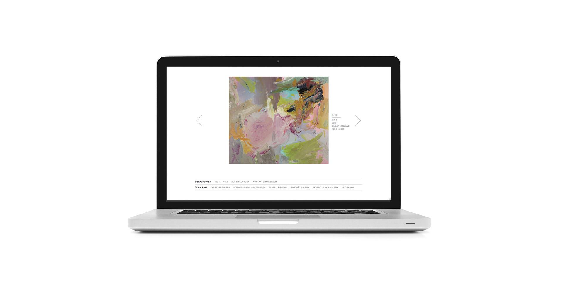 Petra Zimmerer, Büro für Gestaltung, Christine Colditz, Webseite, responsive, Kunst