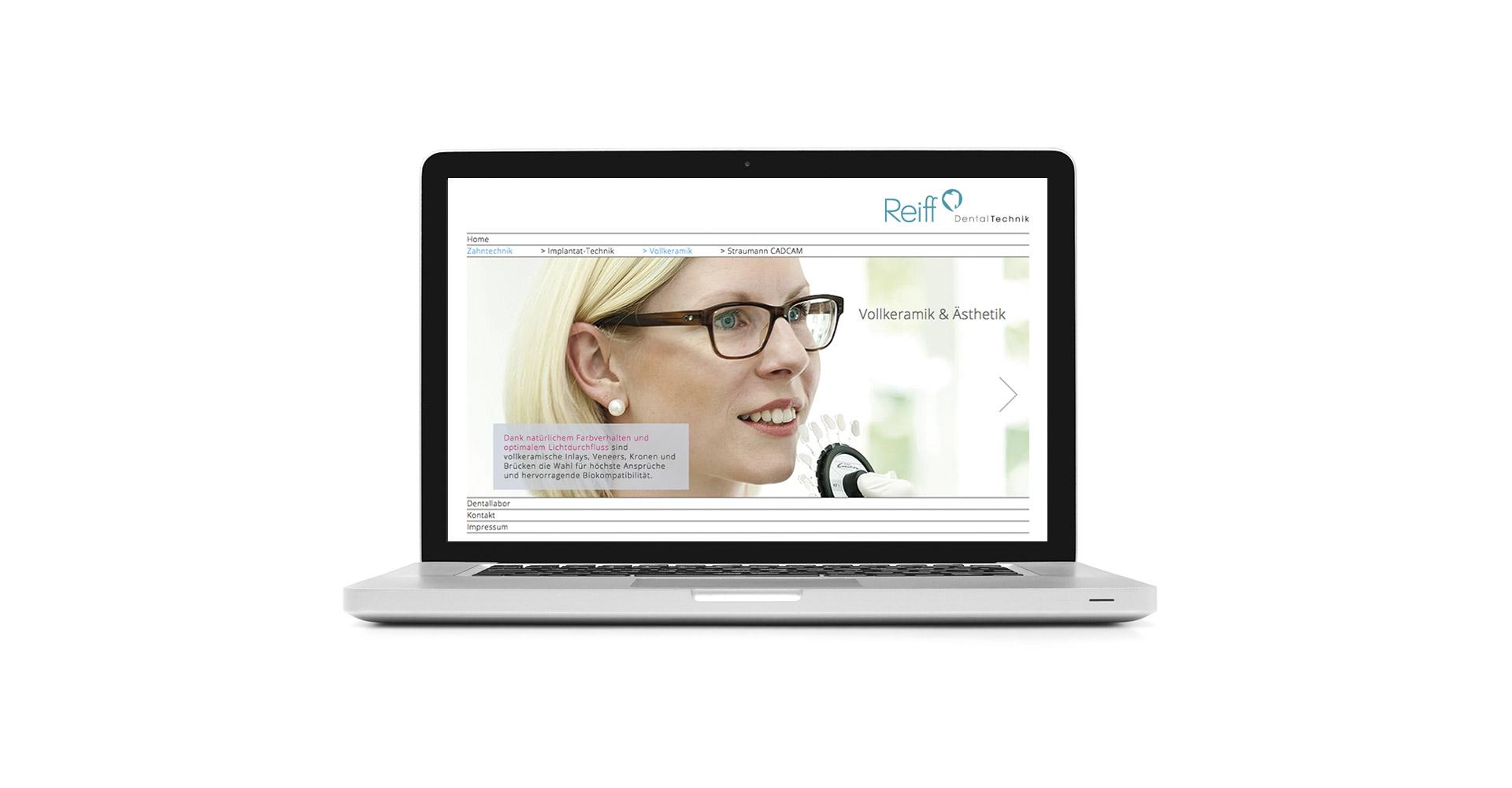 Petermeyer Zimmerer, Reiff Dentaltechnik, Webseite