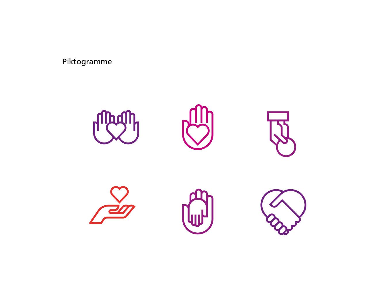 Petra Zimmerer, Büro für Gestaltung, Corporate Design, Sapv Südfranken, Piktogramme, Design by pz