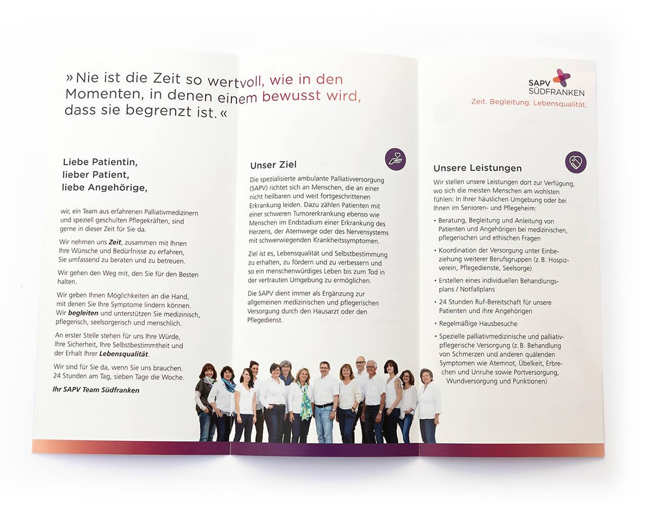 Petra Zimmerer, Büro für Gestaltung, Print, Folder, Sapv Südfranken, Design by pz